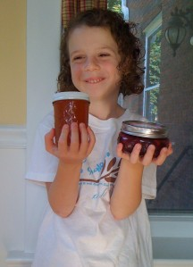 Zoe and her canning projects